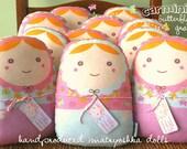 Carminitas Grandes  - lot of 10 Matryoshka dolls-- matryoshka style doll/pillow/plush/softie/decor-- wholesale 10x