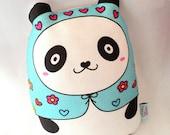 Pandita matryoshka doll/pillow/plush/softie/decor --- grande size (aqua) -- handproduced-- ( ship in 3 days )