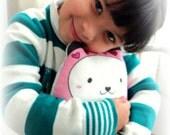 """Pandita """"kawaii"""" matryoshka doll/pillow/plush/softie/decor (pink)---grande size-- (ship in 3 days)"""