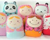 Choose your cute plush matryoshka doll set -- pick( 2 )