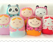 """Exclusive micasita's collection-- """"matryoshka style dolls"""" (grande size)  -- set of (7)-- wholesale 7x"""
