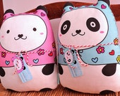 "friendly ""Panditas"" (set of 2) matryoshka doll/pillow/plush/softie/decor)"