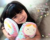 "carminitas pastel butterfly -- matryoshka dolls -- ""twins"" (set of 2)"
