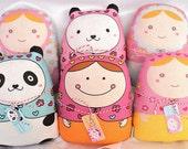 "Exclusive micasita's collection-- ""matryoshka style dolls"" (grande size) -- set (6) -- wholesale 6x"