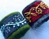 RESERVED beadworxAZ Spanish Wool Felt Rings