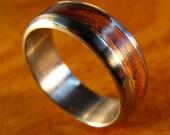 Titanium Ring, Wedding Ring, Wood Ring, Cocobolo Ring, Mens Ring, Womens Ring, Mens Wedding Ring, Wedding Band Set, Wedding Band, Unique
