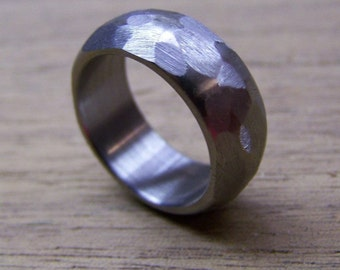 Titanium Ring, Wedding Ring, Custom Made Ring, Mens Ring, Womens Ring, Distressed Ring, Handmade Ring, Wedding Band, Personalized Ring