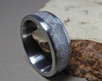 Titanium Ring, Wedding Ring, Rose Quartz Ring, Wedding Band, Mens Ring, Womens Ring, Mens Wedding Ring, Custom Made Ring, Promise Ring