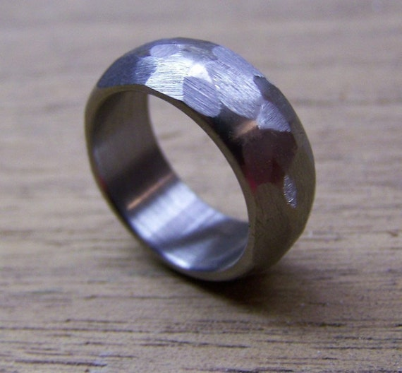 Titanium Ring, Wedding Ring, Custom Made Ring, Mens Ring, Womens Ring, Distressed Ring, Handmade Ring, Wedding Band, Personalized Ring