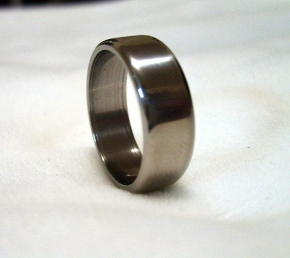 Solid Titanium Handcrafted Ring