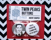 Twin Peaks Buttons - Agent Cooper