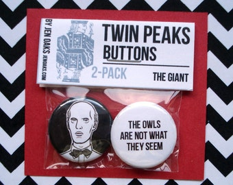 Twin Peaks Buttons - The Giant