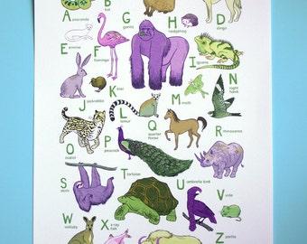 ABC Animal Print - Earth's Animals - 10 x 13
