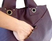 leather hobo bag - burgundy