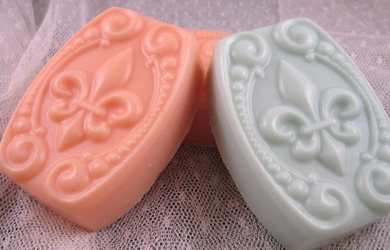 REDUCED  Set of 3 Tropical Sunset Goats Milk Soap