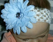 Ella and Lily Sweet baby blue Daisy flower headband Hairband Christmas Gift