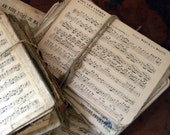 Vintage French music sheets, lot of 5