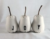 Joy Pears, white plush home decor or bowl fillers - MAE TO ORDER