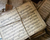 RESERVED Vintage French sheet music, lot of 5