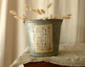 Recycled zinc pail French country decor