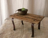 Slatted footstool, wooden French country object