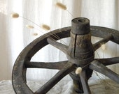 Rustic vintage wagon wheel French country decor