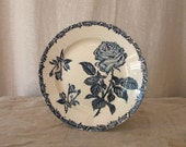 French vintage porcelain plate, shabby chic decor