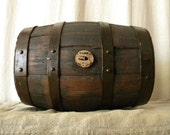 RESERVED Vintage wood wine barrel, French country decor