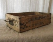 Vintage wood crate French country decor