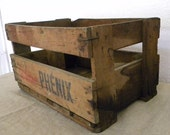 SALE Vintage wood crate French country decor