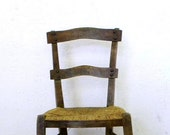 Vintage French Provencal wood chair