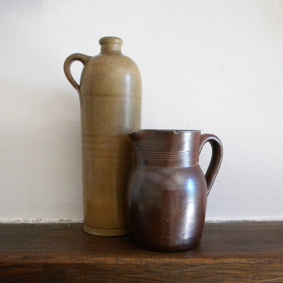 Vintage clay pitchers