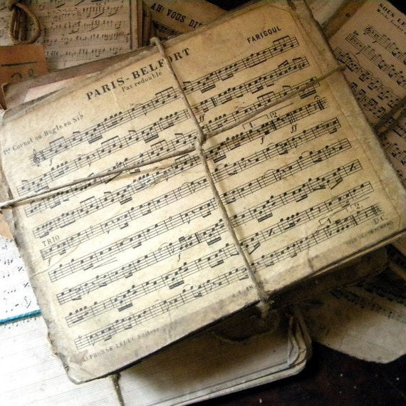 Vintage French Sheet Music Lot Of 10