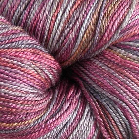 Queen of Hearts Sale - Hand Dyed Seacell Silk Knitting Yarn - Fingering Weight - Looking Glass