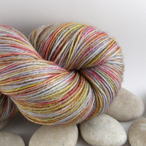 Superwash Merino Wool Nylon Hand Dyed Knitting Yarn - Fingering Weight, Variegated, 440yds - Play