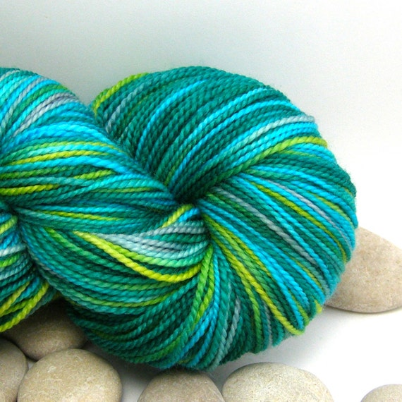 Queen of Hearts - Hand Dyed Yarn Superwash Merino - Fingering Weight, Variegated, 385yds - Jungle Beat
