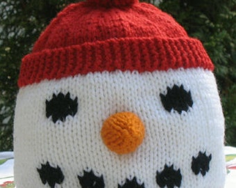 Snowman Hat PDF Knitting Pattern