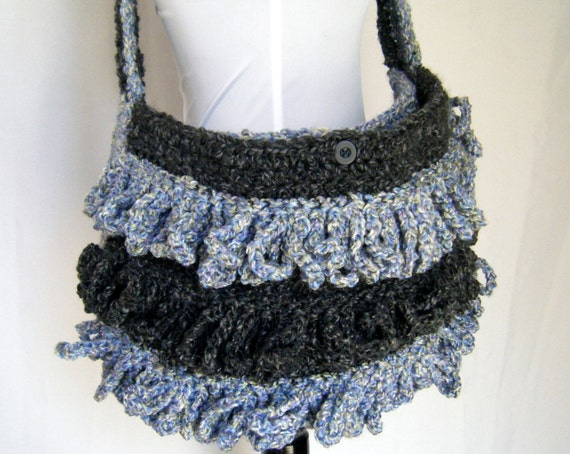 SALE 20% off Loopy Large Crochet Bag