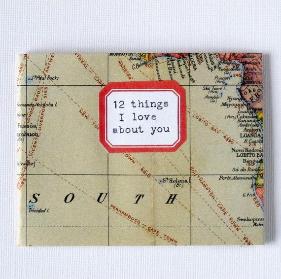 "map ""12 things i love"" mini-book"