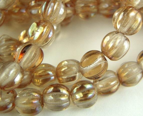 Czech Glass Beads - 5mm Melon Crystal Celsian 50