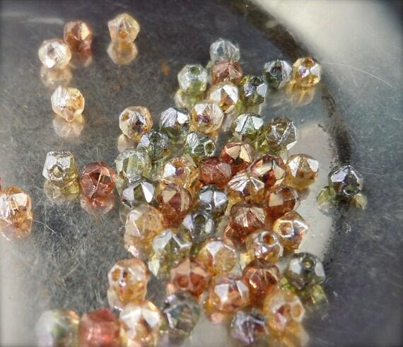 Czech Glass Beads - 3mm Nugget Bead Luster Mix 50 (G - 128)