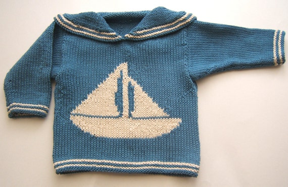 Brendan nautical baby sweater--PATTERN