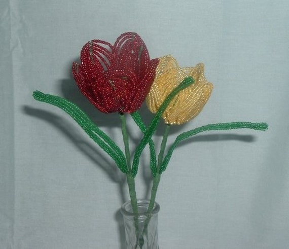 French Beaded Tulips