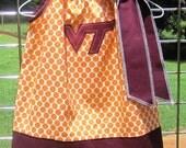 Virginia Tech- Pillowcase dress- Orange and Maroon- Go Hokies