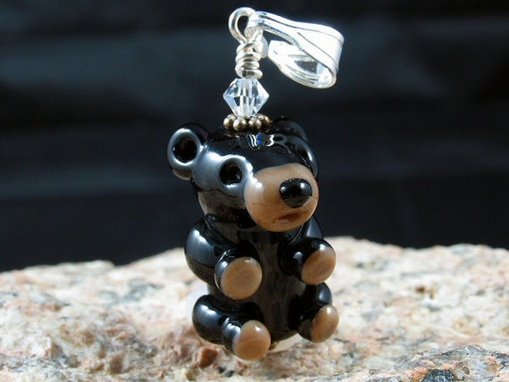 "Bear Pendant Leather Adjustable Cord - ABR Charity ""Wear a Bear"" - Parker"