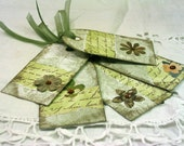 shabby chic sage green gift tags