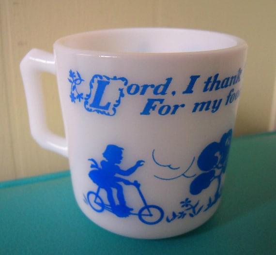 SALE vintage childs prayer mug by Hazel Atlas