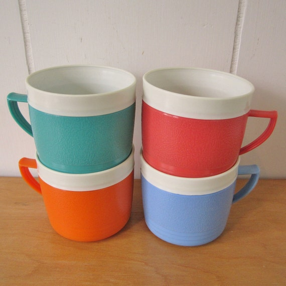 RESERVED for jennie835 SALE 4 vintage Sunfrost thermo mugs