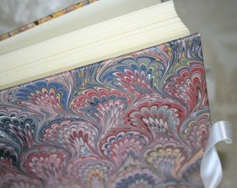 Handbound photo album - French bouquet in blue and pink, small, studio CLEARANCE price