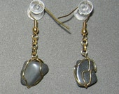 NATURAL NUGGETS Natural Hematite Nugget Drop Earrings